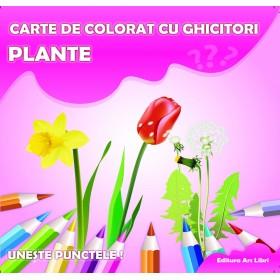 Carte de colorat cu ghicitori - Plante