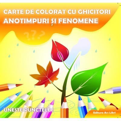 Carte de colorat cu ghicitori - Anotimpuri și fenomene
