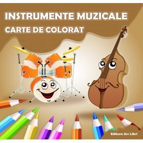 Carte de colorat - Instrumente muzicale