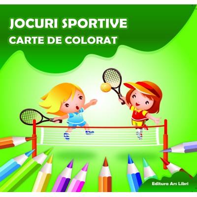 Carte de colorat - Jocuri sportive