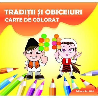 Carte de colorat - Tradiții și obiceiuri
