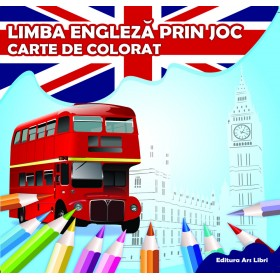Carte de colorat - Limba engleză prin joc
