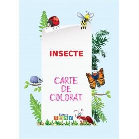 Carte de colorat - Insecte