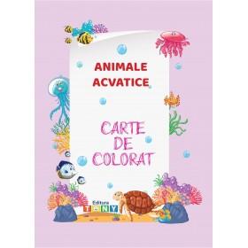 Carte de colorat - Animale acvatice