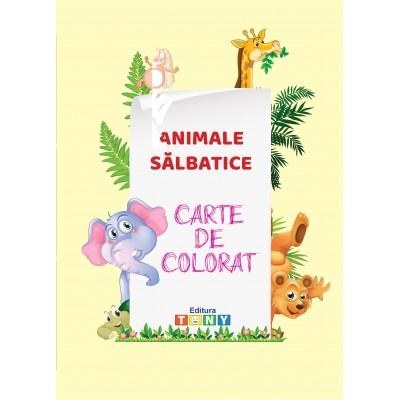 Carte de colorat - Animale sălbatice