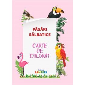 Carte de colorat - Păsări sălbatice
