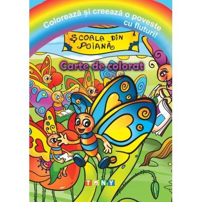 Colorează și creează o poveste cu fluturi!